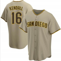 Fred Kendall San Diego Padres Youth Replica Sand/ Alternate Jersey - Brown