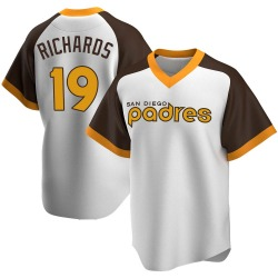 Gene Richards San Diego Padres Youth Replica Home Cooperstown Collection Jersey - White