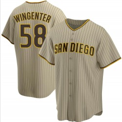 Trey Wingenter San Diego Padres Youth Replica Sand/ Alternate Jersey - Brown
