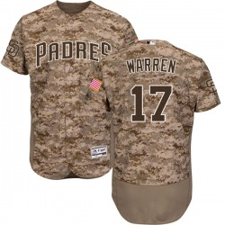 Adam Warren San Diego Padres Youth Authentic Majestic Flex Base Alternate Collection Jersey - Camo