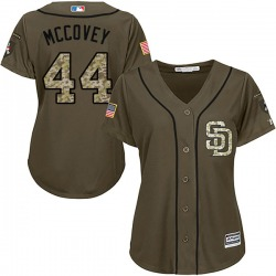 Willie Mccovey San Diego Padres Women's Replica Majestic Salute to Service Jersey - Green