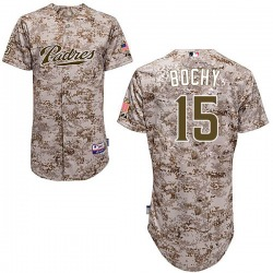 Bruce Bochy San Diego Padres Youth Authentic Majestic Cool Base Alternate Jersey - Camo