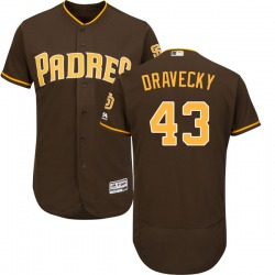 Dave Dravecky San Diego Padres Men's Authentic Majestic Cool Base Alternate Jersey - Brown